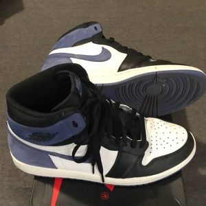 Jordan Shoes - Men's Air Jordan retro 1 blue black white 11.5